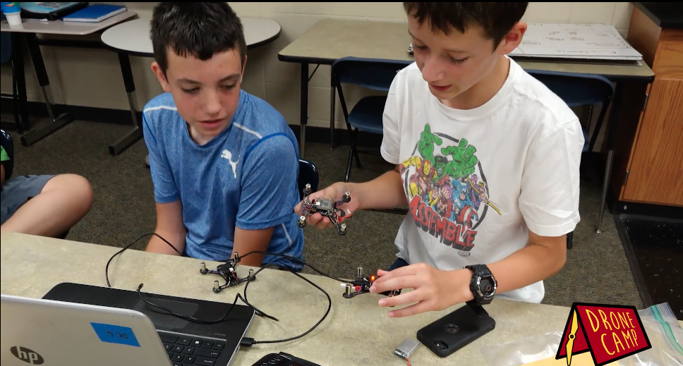 Drone Camp Teaches Kids How to Build and Fly Drones